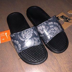 Floral Print Nike Slides Sandals